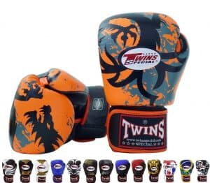 Twins Special Signature Fancy Boxing Gloves Orange